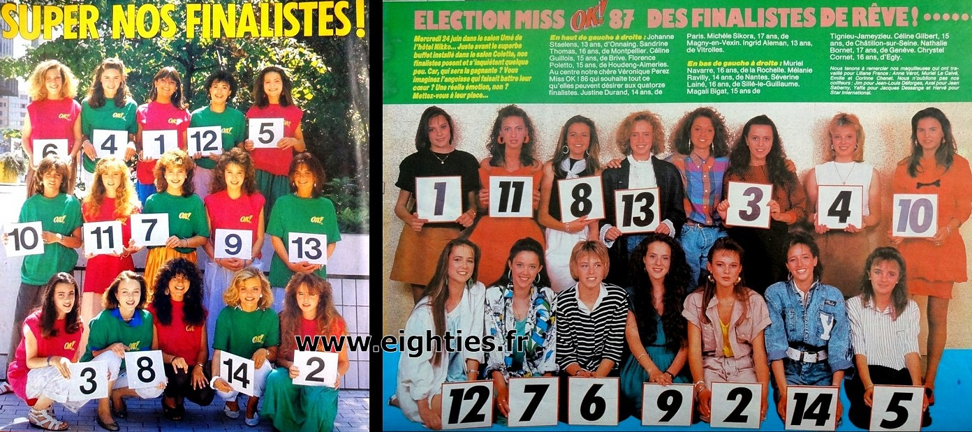 candidates Election Miss OK magazine années 80