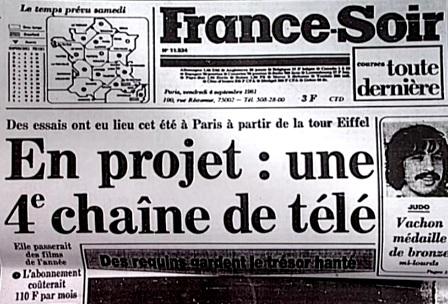Creation canal plus france soir annees 80