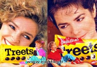 Chocolat Treets années 80