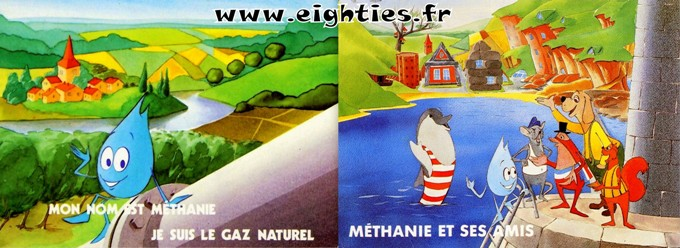 Cartes postales methanie dessin anime annees 80