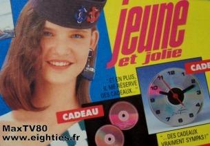 jeune et jolie magazine presse années 80 's kitch kitsch vanessa paradis mode adolescentes