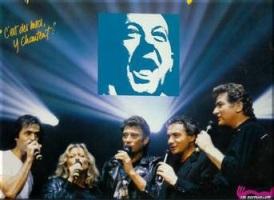 1985 restos du coeur enfoirés création disque logo