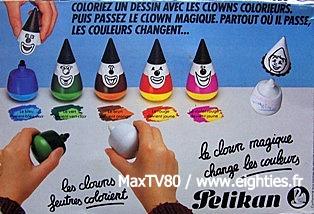 annees 80 années 80 80's feutres pelikan feutre souris clown clowns ecole souvenirs nostalgie