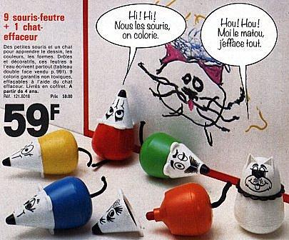 annees 80 années 80 80's feutres pelikan feutre souris clown clowns ecole souvenirs nostalgie souris