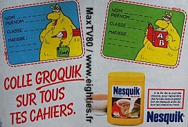 Orthographe grammaire années 80 objet de toture punitions punition école eighties book bled exercices groquik nesquik groquick