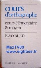Orthographe grammaire années 80 objet de toture punitions punition école eighties book bled exercices