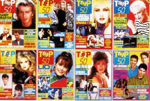 top 50 top50 canal+ Marc Toesca Bros emission magazine annes 80 80's eighties magasine musique revue journal classement