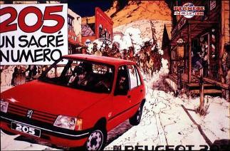 années 80 technologies pub publicité peugeot 205 gti voiture auto
