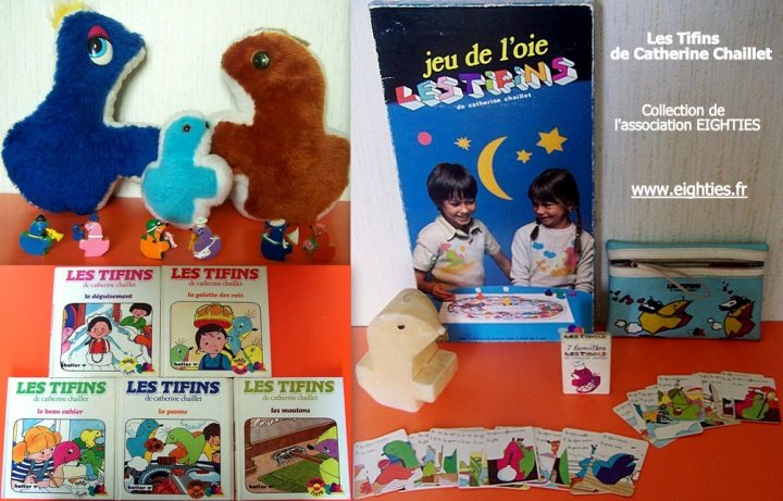 Collection produits dérivés Tifins Eighties