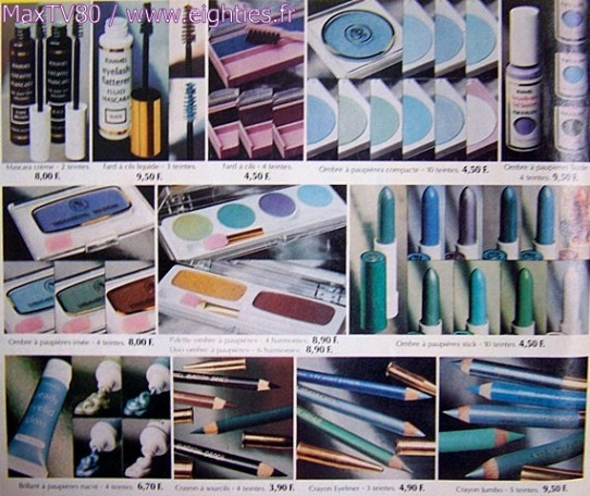 annees, années, 80, 80's, eighties, maquillage, make, up, deguisement, kitsch, kitch, bourjois, rimmel, beauté, femmes, femme, cosmetiques