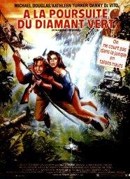 Années, annees, 80, 80's, eighties, a la poursuite du diamant vert, michael Douglas, Kathleen Turner