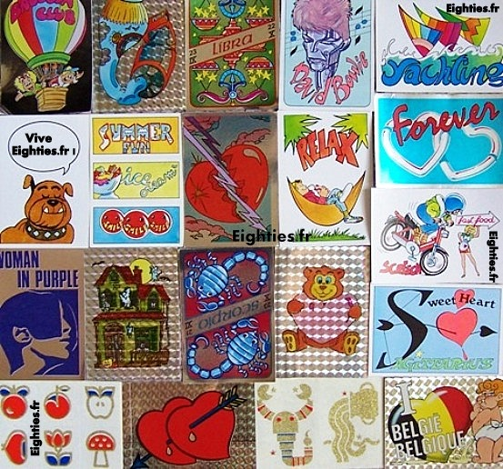 Fantastickers panini stickers années 80