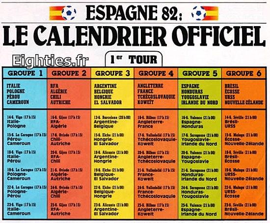 ANNEES, 80, 80's, eighties, 1982, mondial, mundial, espagne, espana, foot, football, platini, platoche, battiston, Hidalgo, maradonna, TRESOR