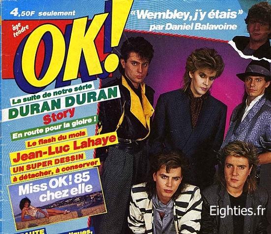 ANNEES, 80, 80's, eighties, TOP50, Top, 50, Marc, Toesca, canal+, Duran-duran, Simon le-bon, taylor, the relfex, Nick-rhodes, musique, souvenirs, nostalgie
