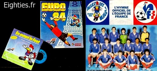 annees 80, 80's, eighties, soccer, foot, football, platini, euro 1984, France, champion, ballon, but, michel, sportif, uefa