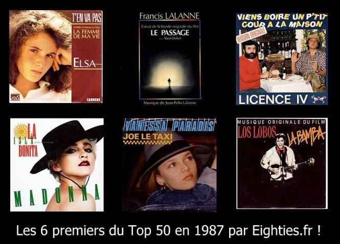 ANNEES 80, 80's, eighties, TOP50, Top 50, Marc, toesca, canal+, Hit parade, madonna, vanessa paradis, Elsa, souvenirs, tubes, titres, 45 tours, musique, classement