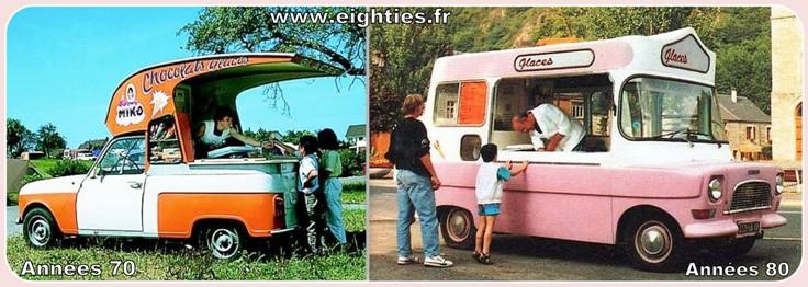 camion de glaces des années 70 glaces années 80