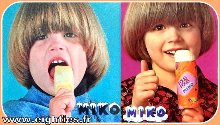 Glaces Pouss pouss Miko années 70