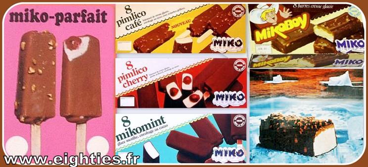 Glaces Miko Chocolat des années 70 Esquimaux Mikoboy