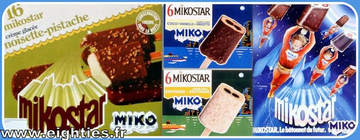 Glaces Miko des années 70 Mikoboy esquimaux au chocolat