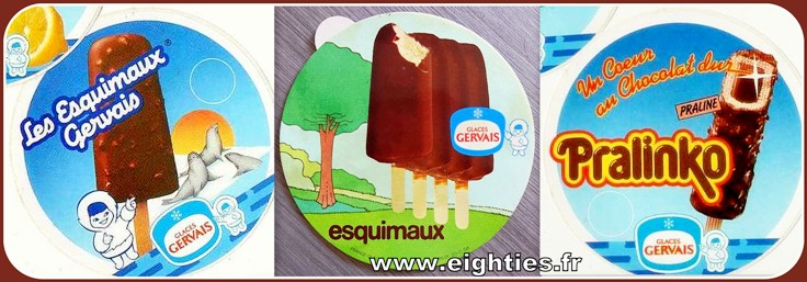 Glaces Gervais chocolat esquimaux années 70