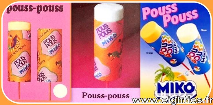 Glace Pous pous de Miko années 70 glaces Pouss pouss années 80