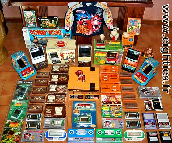 ANNEES 80, 80's, eighties, Retrogaming, donkey-kong, pacman, intellivision, atari 2600, amstrad, arcade, mario, jumpman, coleco, nostalgie,