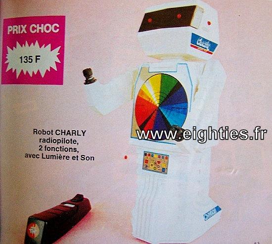 Robot-charly, ANNEES 80,80's, eighties, catalogue, jeux, jouets, Noël, enfants, souvenirs, nostalgie, 1980, La samaritaine, cergy