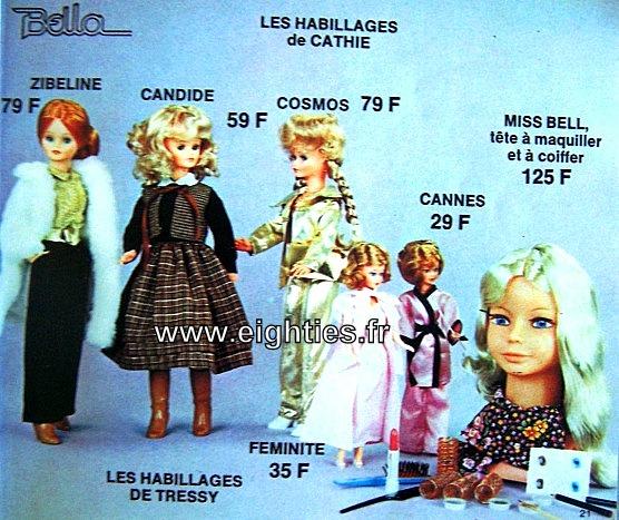 ANNEES 80,80's, eighties, catalogue, jeux, jouets, Noël, enfants, souvenirs, nostalgie, 1980, La samaritaine, cergy,poupées, cathie, bella