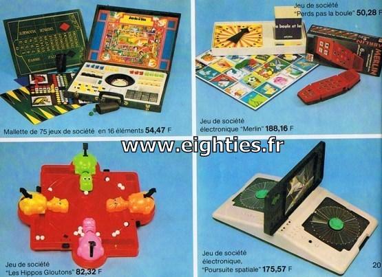 ANNEES 80, 80's, Eighties, catalogue, jeux, jouets, continent, magasins, hypermarchés, supermarchés, nostalgie, souvenirs, Noël, 1981, merlin, hippo gloutons