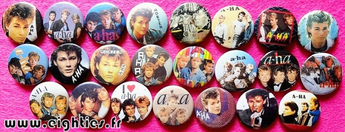 Badges de AHA des annees 80 buttons eighties