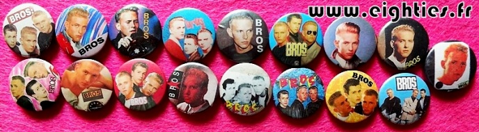 Badges de BROS des annees 80 buttons eighties