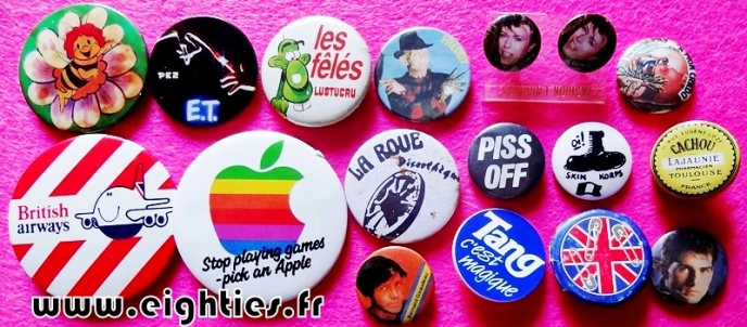 Badges divers des annees 80 buttons eighties