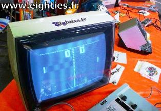 Exposition Eighties avec Jeu Pong Philips Videojeu