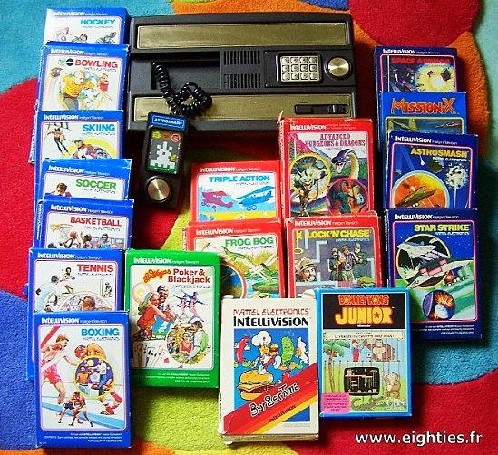 Années 80, 80's, eighties, 70's, console, retrogaming, geek, intellivision, mattel, jeux, souvenirs, nostalgie,
