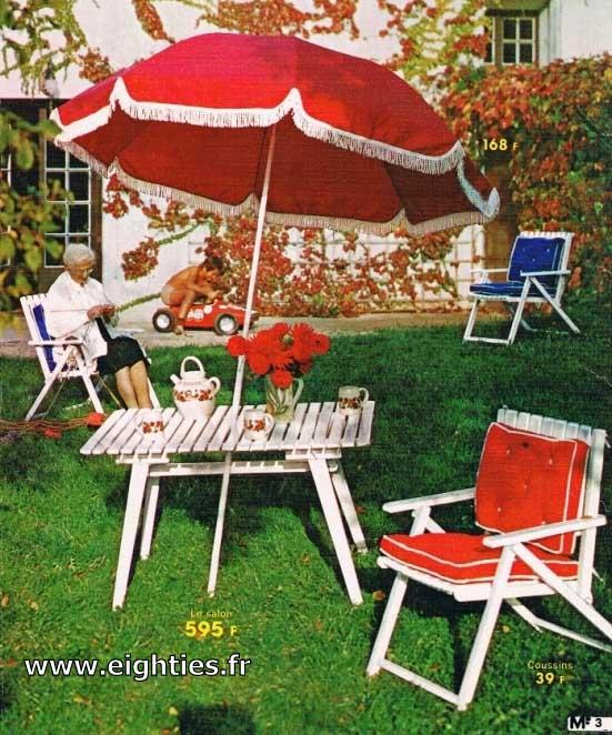 Mobilier jardin des annees_80