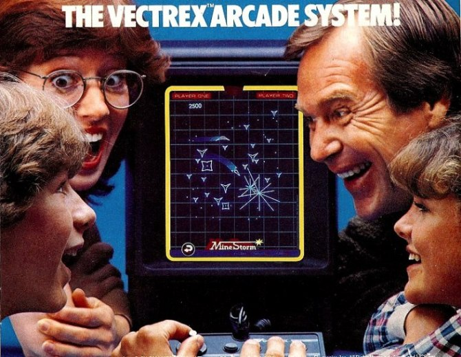 Vectrex MB console annees 80