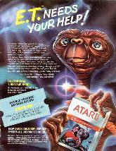 Publiucité jeu ET Atari VCS 2600
