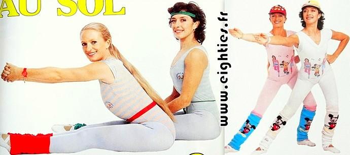 Véronique et davina émission de gym tonic télé des années 80 aérobic