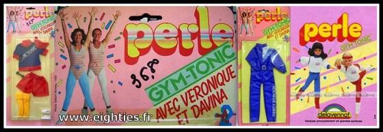 poupées Perle Véronique et Davina gym tonic années 80