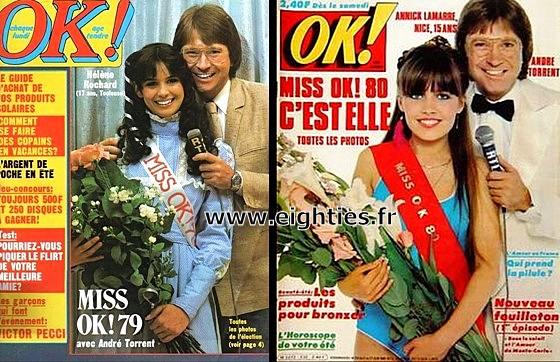 gagnantes Election Miss OK magazine années 80