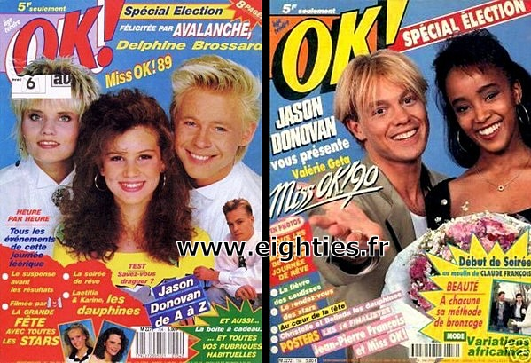 gagnantes Election Miss OK magazine années 90