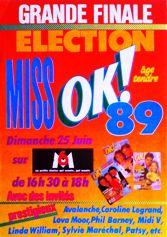 Election Miss OK magazine années 80