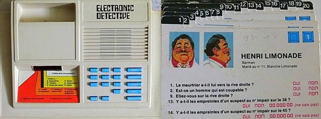 années 80, 80's, eighties, jeu électronique, electronic detective, 1979, marque Ideal, jeux, jeu, enquete policière, nostalgie, souvenirs,