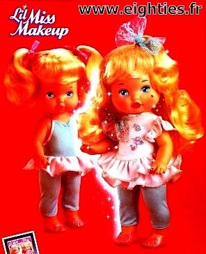 Années 80, 80's, eighties, poupée, poupées, Mattel, 1988, 1989, Miss Make-Up, Miss Dress-up, lil' miss make up, maquillage, jouet, enfance,