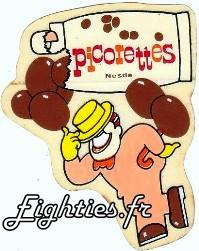 bonbons picorette de Nestlé boules de chocolat années 80