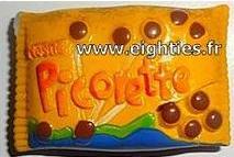 sachet de bonbons picorette de Nestlé années 80