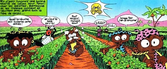 Extrait bande dessinée Biscuits Bamboula années 90
