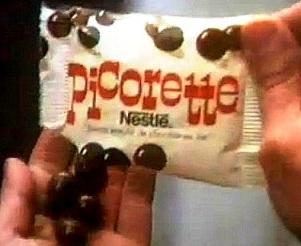sachet de bonbons picorette de Nestlé années 70