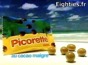 bonbons picorette de Nestlé années 80 NOIX DE COCO